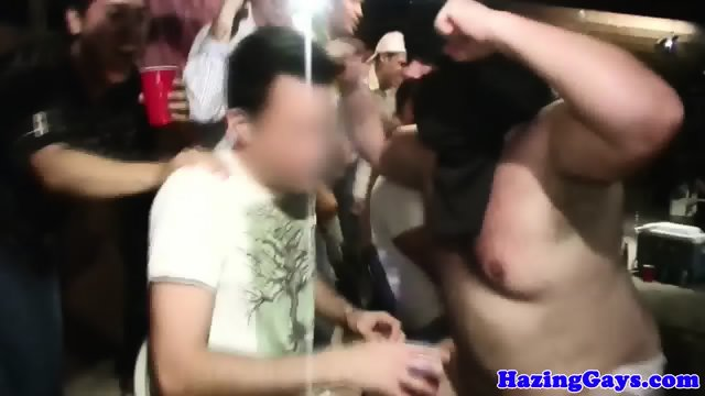 Humiliated straight students initiated
