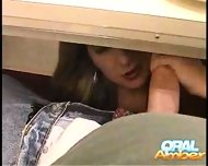 Oral Amber - Under the table - scene 7