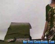 Gaya Patal in Her first gang bang - scene 1