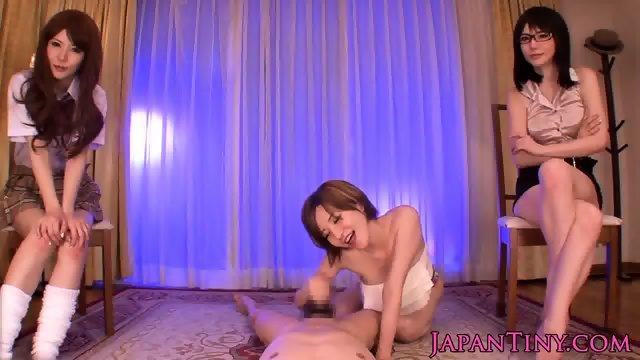 Oriental POV gangbang with tiny Yuria Satomi - scene 3
