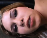 Slut gets 2 anal creampies shits them out and eats them - scene 1