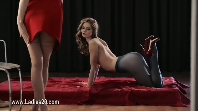 Super toys in super vaginas of charming strapon lezzies