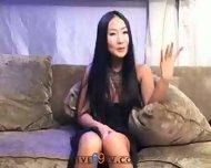 Live69tv - Korean babe fucks two guys - scene 1