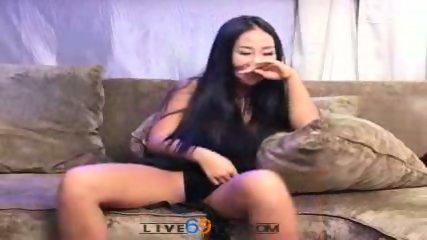 Live69tv - Korean babe fucks two guys - scene 2