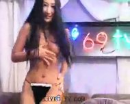 Live69tv - Korean babe fucks two guys - scene 3
