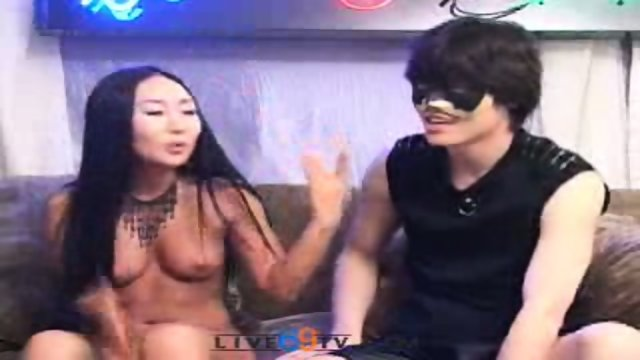 Live69tv - Korean babe fucks two guys