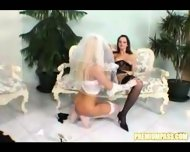 A newlywed lesbian couple - scene 9