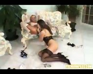 A newlywed lesbian couple - scene 11