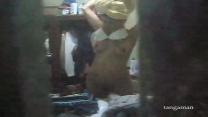 Hidden cam gets teen changing clothes - scene 12