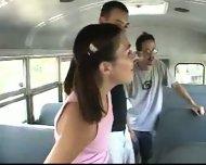 Schoolbus girl - Ashley - scene 1