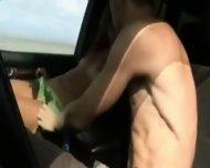 Homemade - Fucking in the car - scene 4