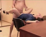 Amateur - Skinny babe fucked in the office - scene 2