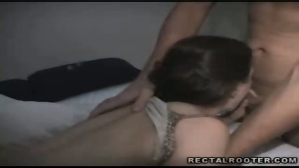 Brunette chick loves to ride on a stiff cock - scene 3