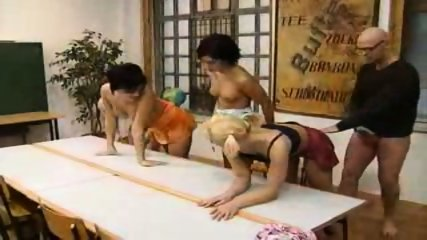 4 Girls Gets Schooled by an Older Man - scene 10