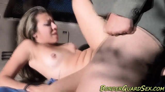 Latina babe gets cumshot