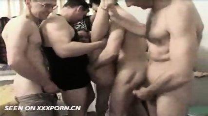 Amateur - Russian Teen Gangbanged - scene 9