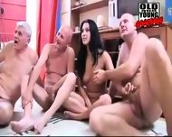 Two young sluts pissed- gagged- fucked by grandpas - scene 6