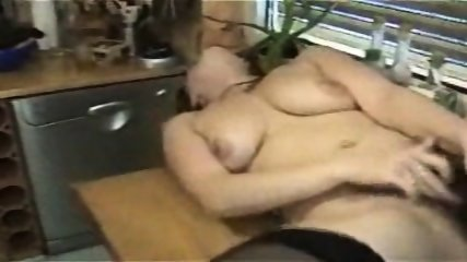 German hairy Bitch plays with Cucumber - scene 11