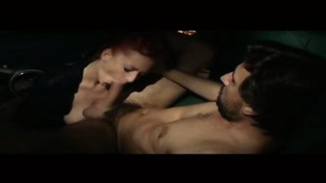 Pretty Italian redhead licking ass