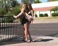 2 lesbian in public - scene 8