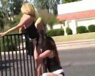 2 lesbian in public - scene 10