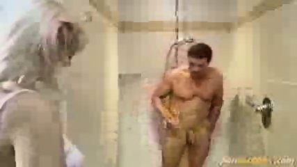 Blonde fucked in the shower - scene 1