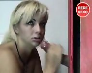 gloryhole blowjob - scene 12