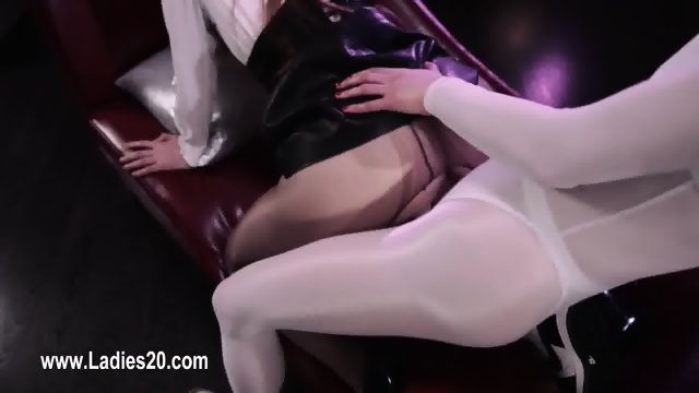 Beautiful girly lesbians sex with erotic dildos