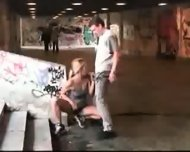 Public golde shower and blowjob - scene 9