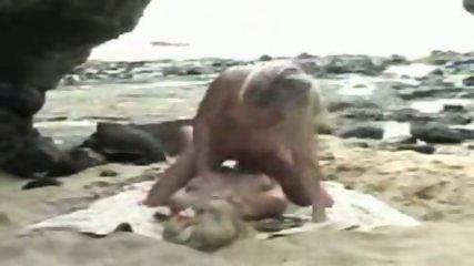 lesbian strapon fuck on beach - scene 11