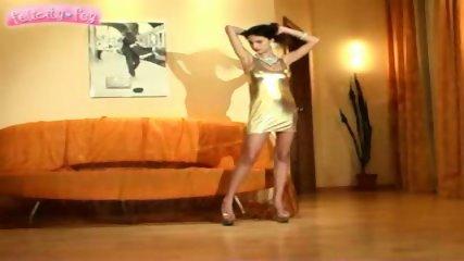 Felicity Fey - golden dress - scene 2
