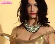 Felicity Fey - golden dress - scene 7