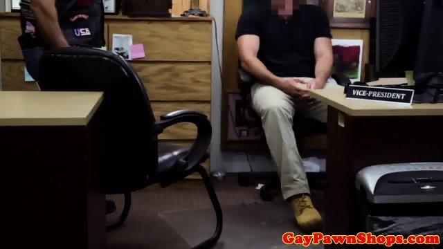 Pawnshop biker cocksucking for cash
