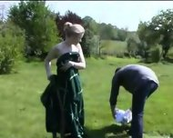 Amateur - Outdoor - German gangbang - scene 4