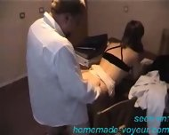 Amateur - Young girl gets it on the desk - scene 12