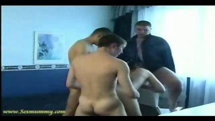 Amateur - Russian girl gets gangbanged by 3 guys - scene 10