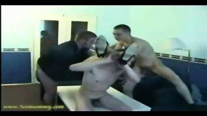 Amateur - Russian girl gets gangbanged by 3 guys - scene 3