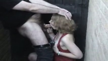 Homemade - Mature woman in red in the allyway - scene 8