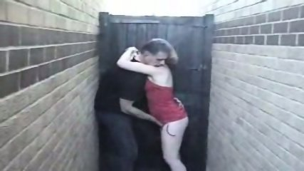 Homemade - Mature woman in red in the allyway - scene 1