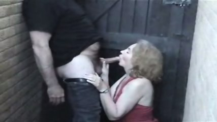Homemade - Mature woman in red in the allyway - scene 4