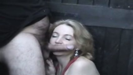 Homemade - Mature woman in red in the allyway - scene 7