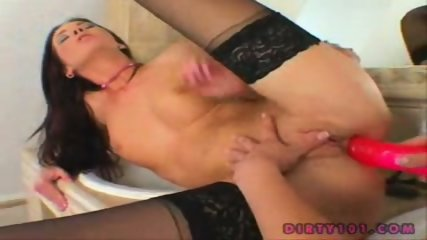 2 super hot lesbian plays with anal dildo - scene 9