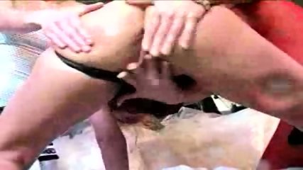 3 Girls in lesbian pee and strapon fun - scene 12