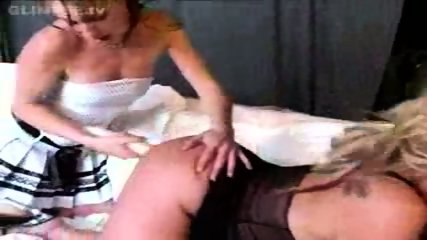 3 Girls in lesbian pee and strapon fun - scene 4