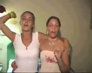 Young babes have homemade fun - scene 1