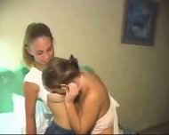 Young babes have homemade fun - scene 2