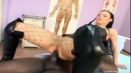 Boots bitch gets ass rammed by huge black dick - scene 3