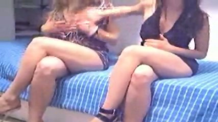 Two young amateur lesbian on webcam 1 of 3 - scene 1