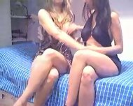 Two young amateur lesbian on webcam 1 of 3 - scene 2