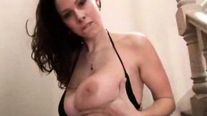 BIG tits babe masturbates SCREAMS during orgasm - scene 6